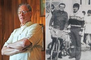 À esquerda, Francisco Arroyo. À direita, visita do Jaiminho.